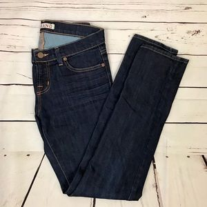 J Brand Skinny Leg Jeans / Low Rise / Dark Denim